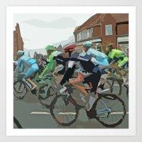 tour de france Art Prints featuring Tour de France 2014 by Bloon Images