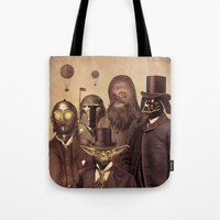 victorian Tote Bags featuring Victorian Wars  - square format by Terry Fan