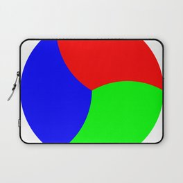 Red Green Blue Thirds of of Circle Laptop Sleeve