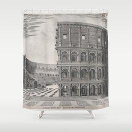 Vintage Diagram of The Roman Colosseum (1581) Shower Curtain