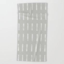 dash grey Beach Towel