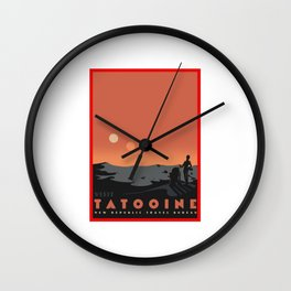 Visit Tatooine Wall Clock