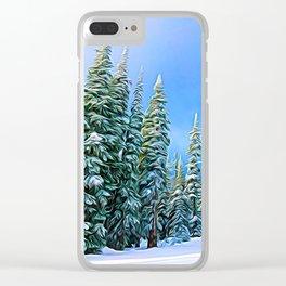 Sundance Chair Trees Clear iPhone Case