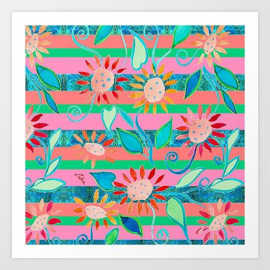 zakiaz flower stripe by zakiazdesigns