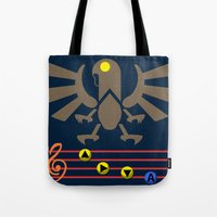 bioshock infinite Tote Bags featuring Bioshock Infinite: Song of the Songbird by Macaluso