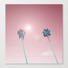 Pastelle Palms #summer vibes Canvas Print