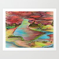 Colorland Art Print