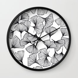 Botanical Outlines | Ginkgo wild Wall Clock