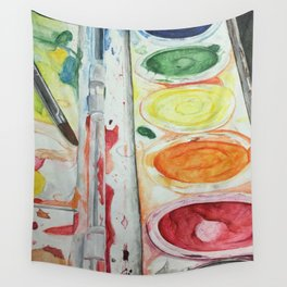 Paint Palette Wall Tapestry