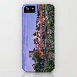 Braganca, Portugal at dusk iPhone Case