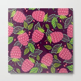 Juicy raspberries Metal Print