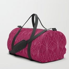 Art Deco in Raspberry Pink Duffle Bag
