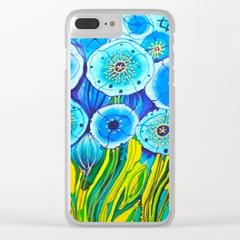 Field of Blue Poppies #1 Clear iPhone Case