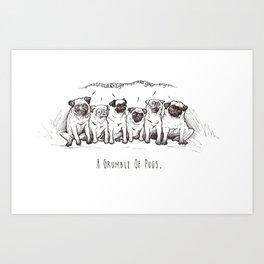 Animal Collective 1: A Grumble of Pugs Art Print