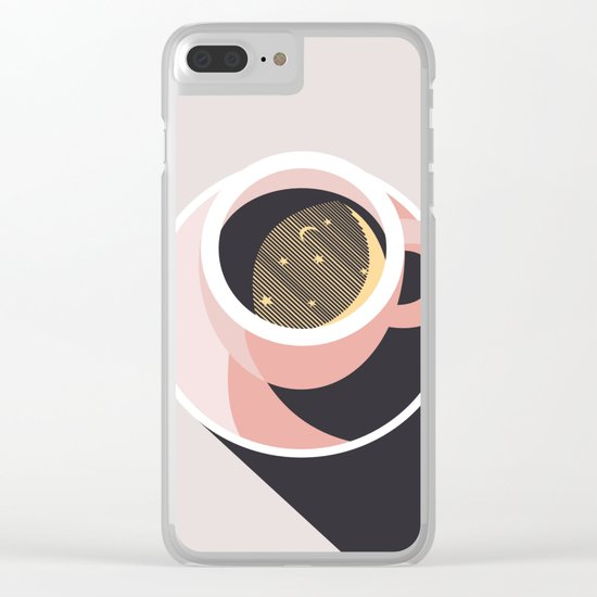 Cup of Coffee Clear iPhone Case