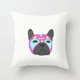 Poochador Throw Pillow