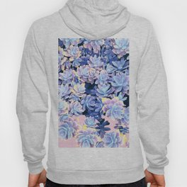 Cactus Fall - Blue and Pink Hoody