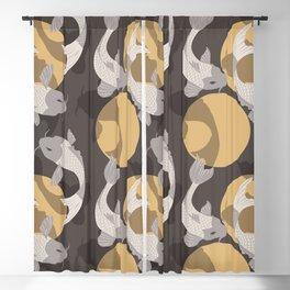 Koi fish pattern 003 Blackout Curtain