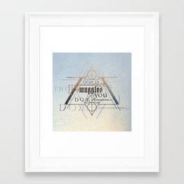 Muggle Framed Art Print