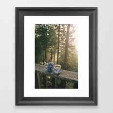 One More Cup Of Coffee Framed Art Print
