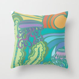 Underwater Wonder World Throw Pillow