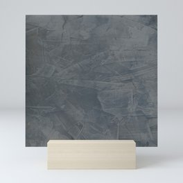 Slate Gray Stucco - Faux Finishes - Rustic Glam - Corbin Henry Venetian Plaster Mini Art Print
