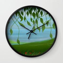 Spring landscape Wall Clock