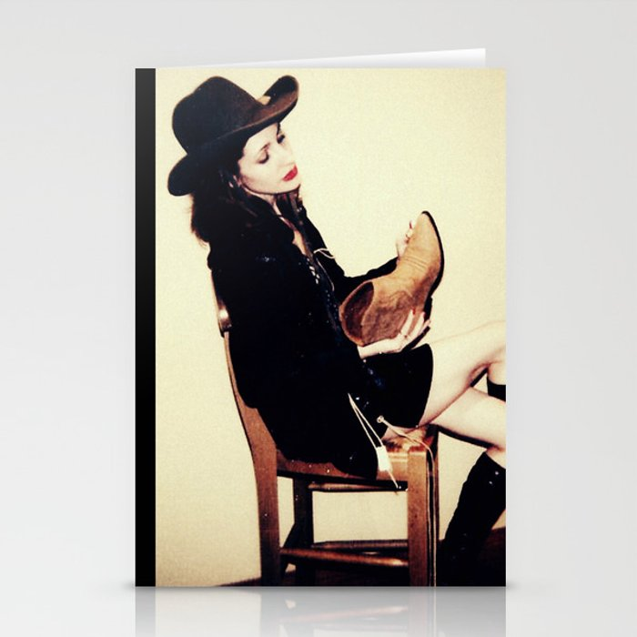 High Contrast Cowgirl Stationery Cards