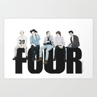coconutwishes Art Prints featuring Four by Coconut Wishes