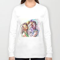 pugs Long Sleeve T-shirts featuring Dramatic pugs by Stin