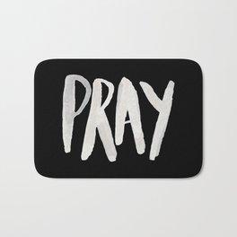 Pray Typography II Bath Mat
