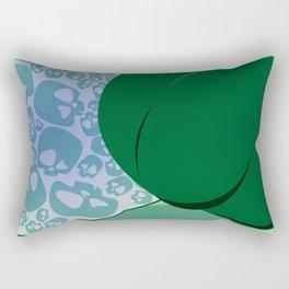 Baie Malefique Green Rectangular Pillow