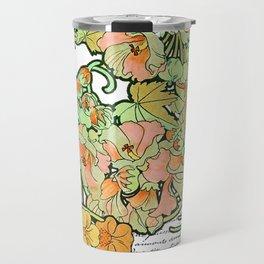 Romance in Paris, Art Nouveau Floral Nostalgia Travel Mug