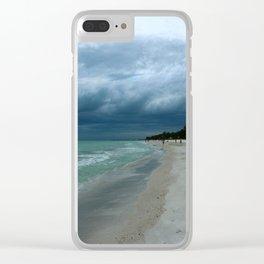 Moody  Sky Over Florida Beach Clear iPhone Case