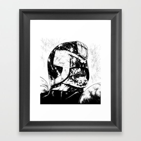 Dredd - Clean Framed Art Print
