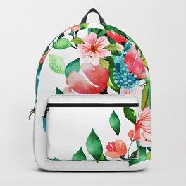 Colorful island floral brunch bouquet Backpack