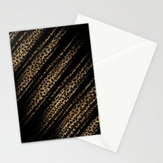 Black Leopard/Cheetah Print Stationery Cards