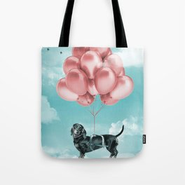 Dachshund Drift Tote Bag