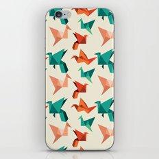 teal paper cranes iPhone & iPod Skin