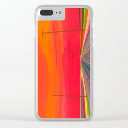 Sunset on Long Beach Clear iPhone Case