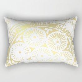 power of one: white gold Rectangular Pillow