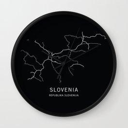 Slovenia Road Map Wall Clock