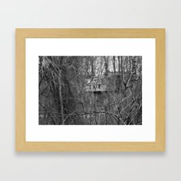 Orange Powder Framed Art Print