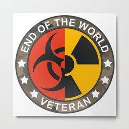 End of the world Veteran Metal Print