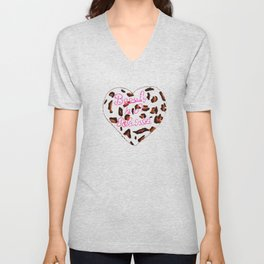 BeautyIsAReligion `Leopard Heart` Unisex V-Neck