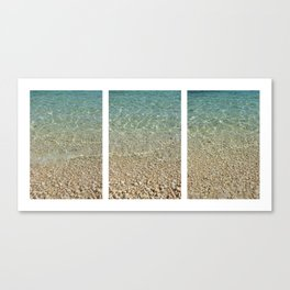 Aqua Blue Ocean Triptych Canvas Print