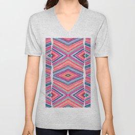 Colorful Diagonals Unisex V-Neck