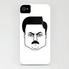 Ron Swanson iPhone (4, 4s) Slim Case