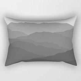 Shades of Grey Mountains Rectangular Pillow