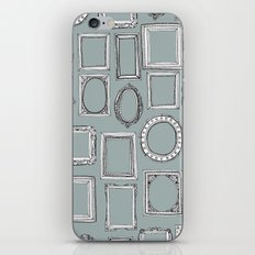 picture frames grey iPhone & iPod Skin